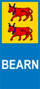 Autocollant plaque immatriculation auto blason bearn